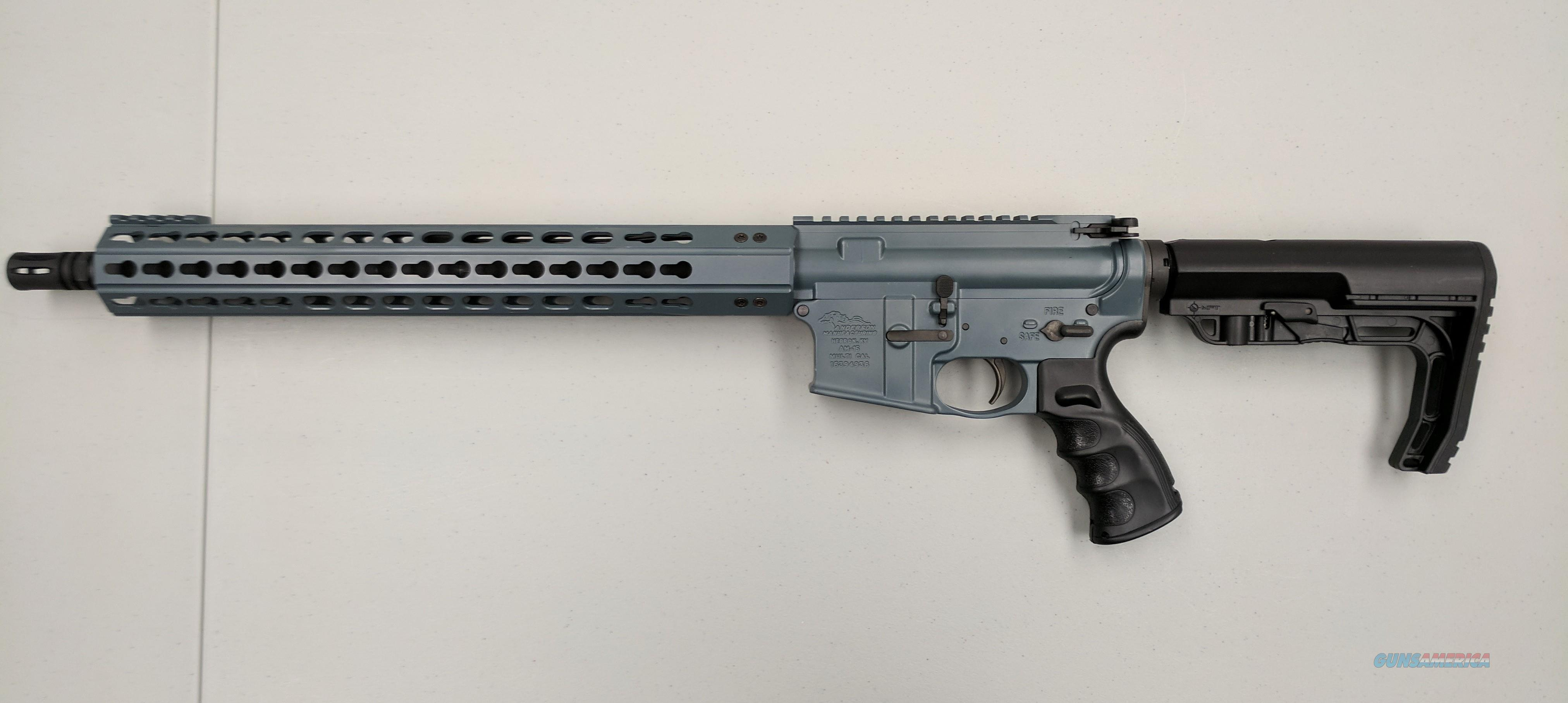 Anderson Cold War Blue AR-15  Guns > Rifles > AR-15 Rifles - Small Manufacturers > Complete Rifle