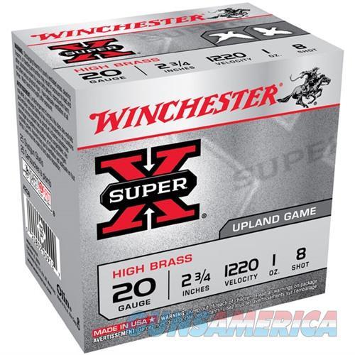 Winchester Super-X High Brass 20ga 2.75'' 1 oz. #8 25/bx  Non-Guns > Ammunition