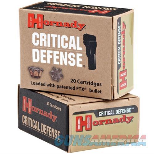 Hornady FTX Critical Defense 40 S&W 165gr 20/bx  Non-Guns > Ammunition