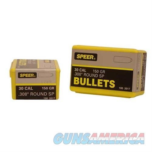 Speer Bullet .30 .308 150gr RN SP  Non-Guns > Reloading > Components > Bullets