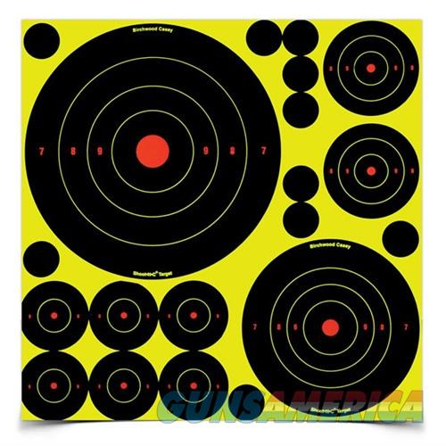 Shoot-N-C Ass't 1'', 2'', 3'', 6'' & 8'' Bull's-Eye Target 5 Sheets  Non-Guns > Targets > Clay Throwers