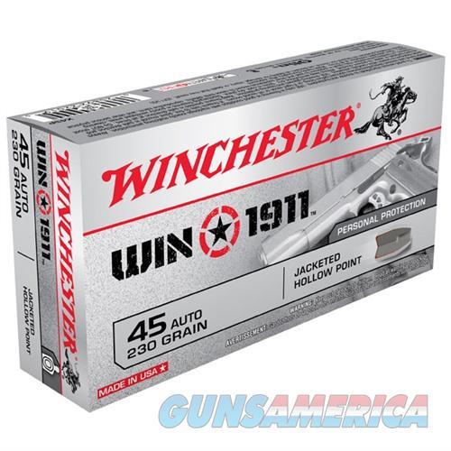 Winchester Win1911 45 ACP 230gr JHP 50/bx  Non-Guns > Ammunition