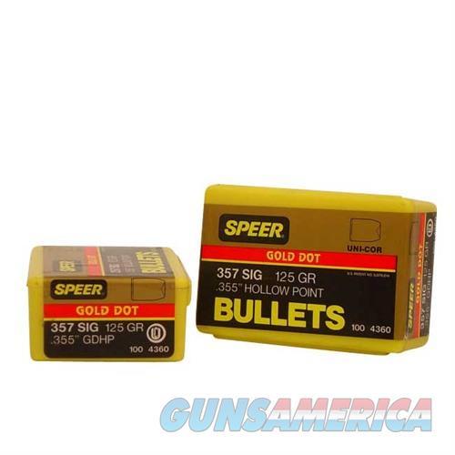 Speer Bullet .357 Sig .357 125gr GDHP  Non-Guns > Reloading > Components > Bullets