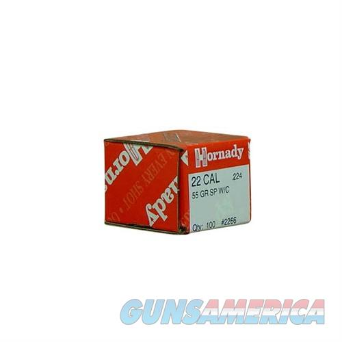 Hornady 22 CAL .224 55 GR SP W/C  Non-Guns > Reloading > Components > Bullets