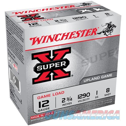 Winchester Super-X Game Load 12ga 2.75'' 1 oz. #8 25/bx  Non-Guns > Ammunition
