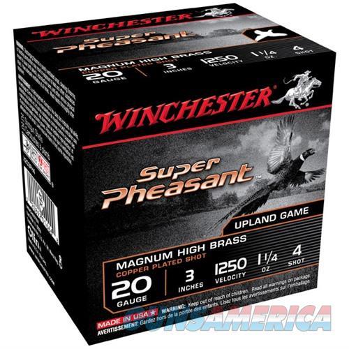 Winchester Super Pheasant 20ga 3'' 1-1/4 oz. #4 25/bx  Non-Guns > Ammunition