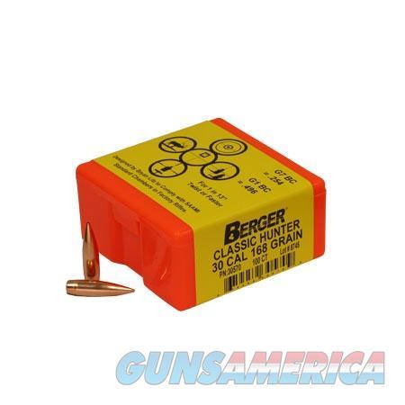 Berger Match Grade Classic Hunter 30 Cal 168gr 100/bx  Non-Guns > Reloading > Components > Bullets