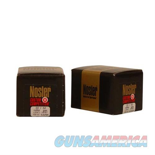 Nosler 22 Cal 52gr Custom Competition HPBT  Non-Guns > Reloading > Components > Bullets