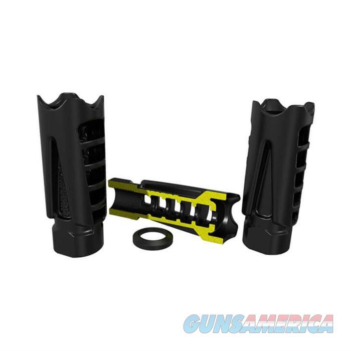 HIPERCOMP? 9mm Compensator 1/2-28 Steel Black  Non-Guns > Gun Parts > Rifle/Accuracy/Sniper