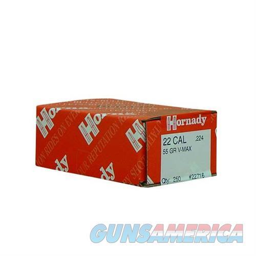 Hornady 22 Cal .224 55gr V-Max 250/bx  Non-Guns > Reloading > Components > Bullets