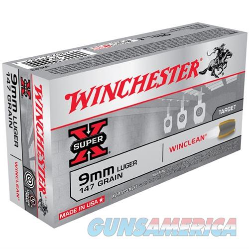 Winchester Super-X Winclean 9mm 147gr 50/bx  Non-Guns > Ammunition