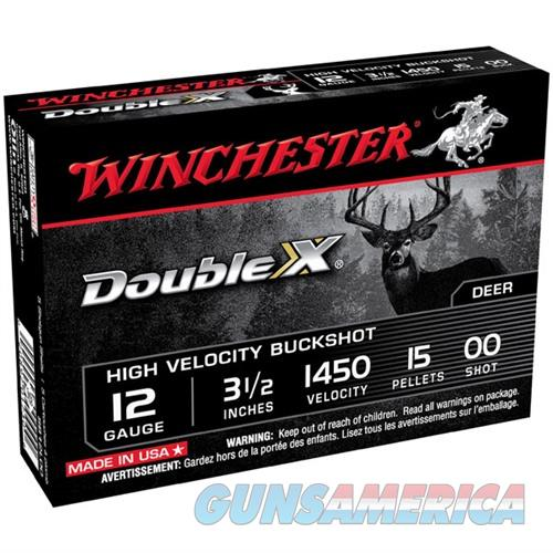 WINCHESTER DOUBLE X BUCK 12GAUGE 3.5' 15 PELLETS #00 5/BX (5 ROUN  Non-Guns > Ammunition