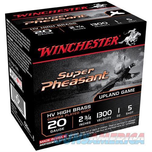 Winchester Super Pheasant 20ga 2.75'' 1 oz. #5 25/bx  Non-Guns > Ammunition