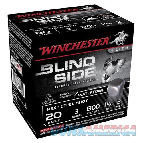 Winchester Ammo Blind Side 20ga 3'' #2 1-1/16oz 25/bx  Non-Guns > Ammunition