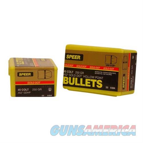 Speer Bullet 45cal .451 250gr GDHP GoldDot HP  Non-Guns > Reloading > Components > Bullets