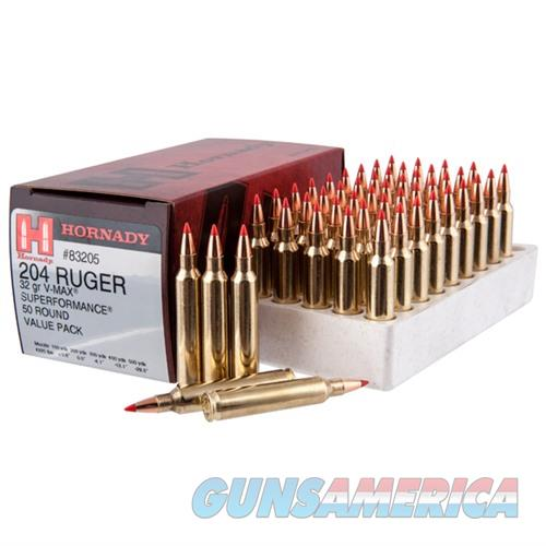 Hornady 204 Ruger 32gr V-MAX 50/bx  Non-Guns > Ammunition