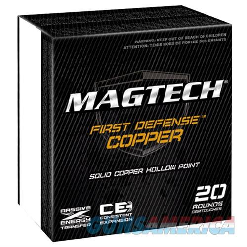 Magtech First Defense Ammo .357Mag 95gr Solid Copper HP 20Rd/Box  Non-Guns > Ammunition