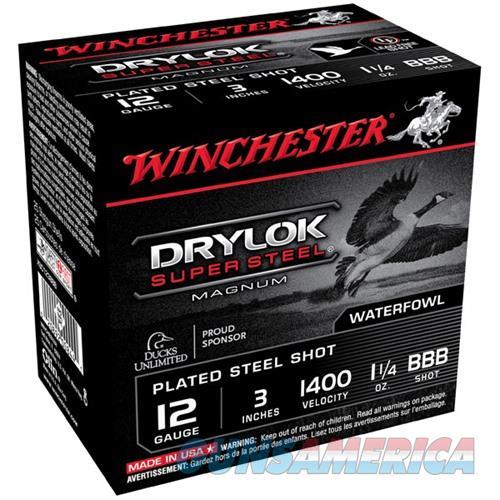 Winchester Drylok Super Steel Mag 12ga 3'' 1-1/4oz #BBB 25/bx  Non-Guns > Ammunition