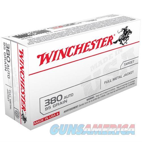 Winchester USA 380 Auto 95gr FMJ 50/bx  Non-Guns > Ammunition