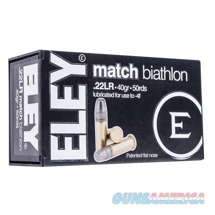 Eley Match Biatholon 22lr, 40gr, Flat Nose, 50rds/Box  Non-Guns > Ammunition