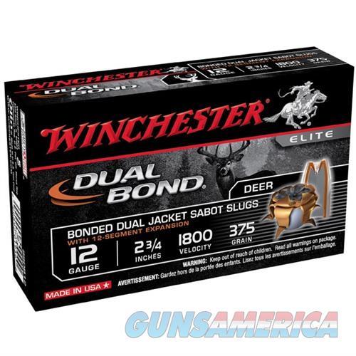 WINCHESTER DUAL BOND 12GAUGE 2.75' 375GR SABOT SLUG 5/BX (5 ROUND  Non-Guns > Ammunition