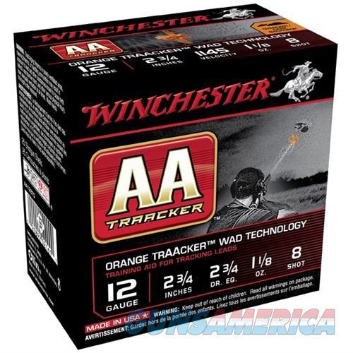 Winchester AA Traacker Orange Wad 12ga 2.75'' #8 1-1/8oz 25/bx  Non-Guns > Ammunition