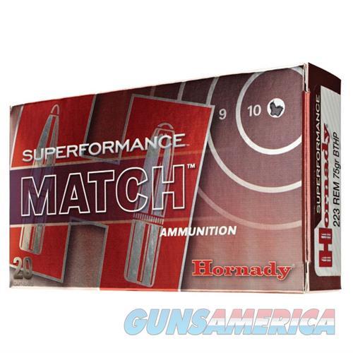 Hornady Superformance Match 223 Rem 75gr BTHP 20/bx  Non-Guns > Ammunition