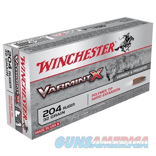Winchester Varmint X 204 Ruger 32gr Polymer Tip 20/bx  Non-Guns > Ammunition