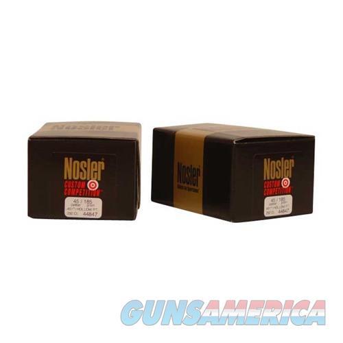 Nosler 45 Cal (.451) 185gr Custom Competition JHP  Non-Guns > Reloading > Components > Bullets