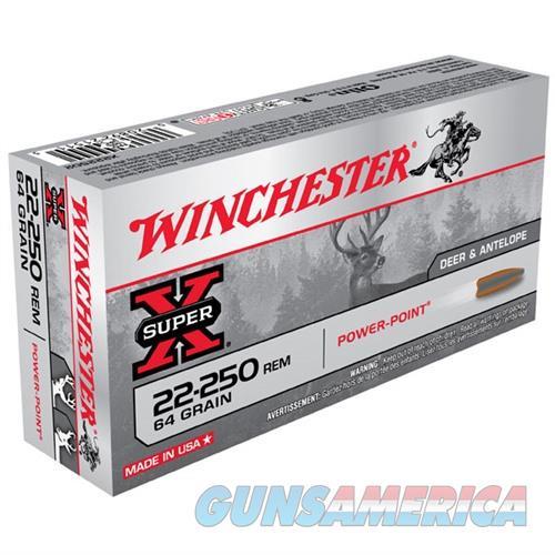Winchester Super-X 22-250 64gr PP 20/bx  Non-Guns > Ammunition