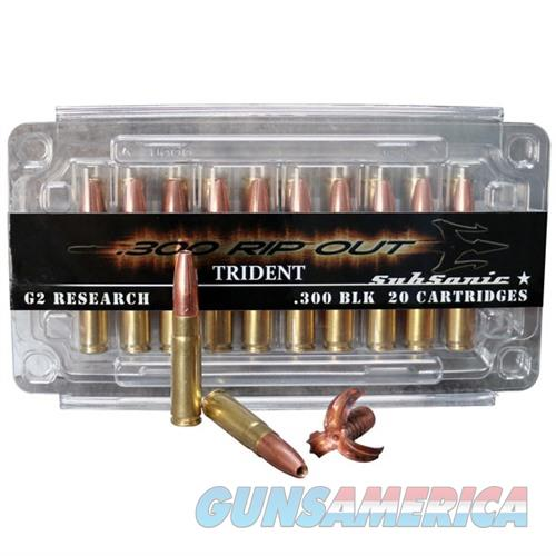 G2R RIP-OUT Ammo 300 BLK Trident SubSonic 200gr 20/bx  Non-Guns > AirSoft > Ammo