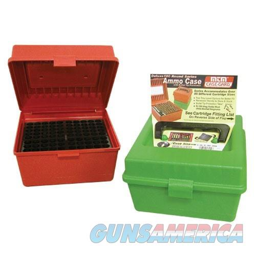 MTM  Deluxe Ammo Box 100 Round Handle 22-250 to 458 Winchester  Non-Guns > Military > Cases/Trunks