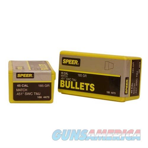 Speer Bullet .45 .451 185GR SWC TMJ Match  Non-Guns > Reloading > Components > Bullets