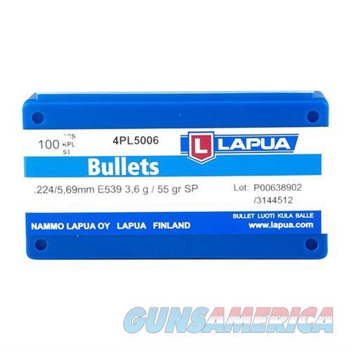 Lapua Bullets .224 55gr SP 100/bx  Non-Guns > Reloading > Components > Bullets