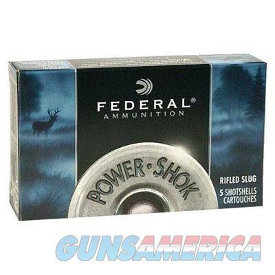 Federal Power Shok 12ga 2.75'' 1-1/4oz Slug 5/bx  Non-Guns > Ammunition