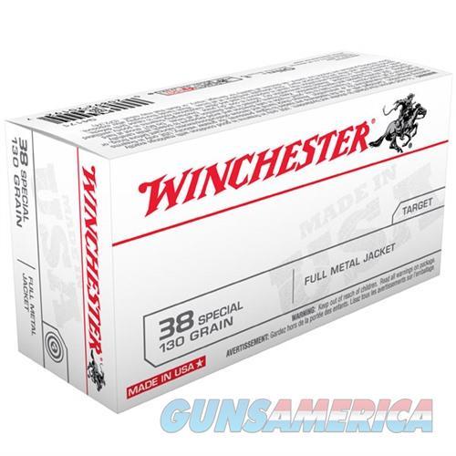 Winchester USA 38 Spl 130gr FMJ 50/bx  Non-Guns > Ammunition