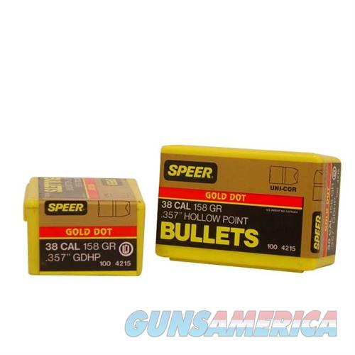 Speer Bullet .38 .357 158GR GD HP  Non-Guns > Reloading > Components > Bullets