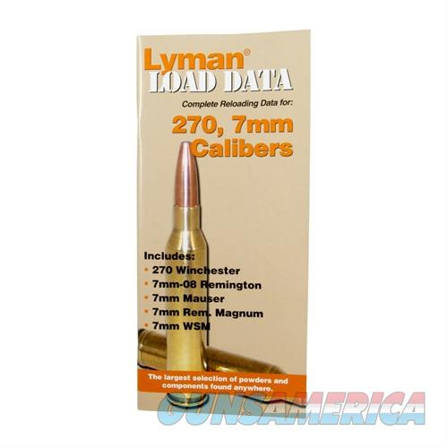 LYMAN LOAD DATA BOOK 270 & 7MM  Non-Guns > Books & Magazines