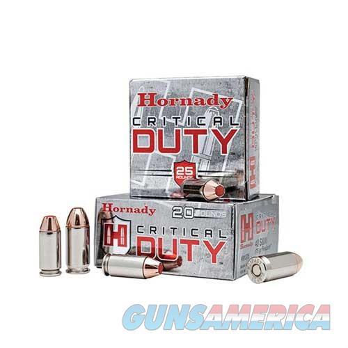 Hornady Critical Duty 9mm Luger +P 135gr FlexLock 25/box  Non-Guns > Ammunition