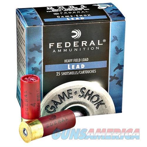 Federal Game Shok Hi Brass 12ga 2.75'' 1-1/4oz #4 25/bx  Non-Guns > Ammunition