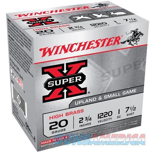 Winchester Ammo 20ga 2.75in Supr-X 2.75d 1oz #7.5  Non-Guns > Ammunition