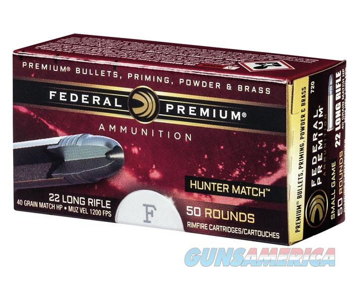 Federal Premium 22 LR HV 40 GR HP Hunter Match 50/bx  Non-Guns > AirSoft > Ammo