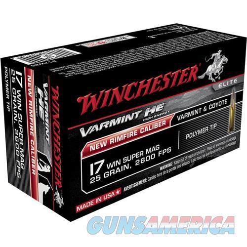 Winchester Varmint HE 17 Win Super Mag 25gr Polymer Tip 50/bx  Non-Guns > Ammunition