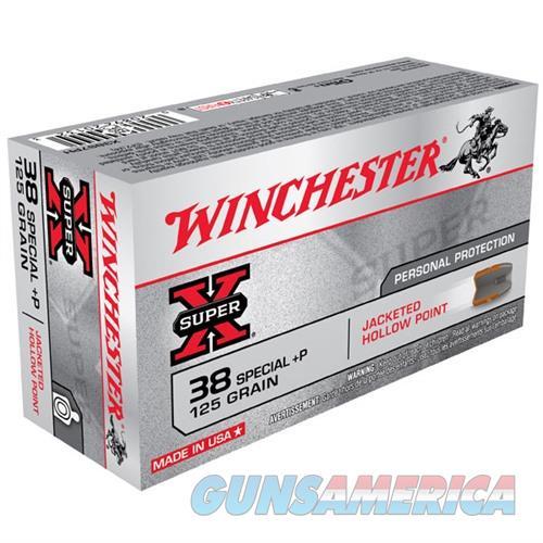 Winchester Ammo 125gr 38 Special+P JHP Super X  Non-Guns > Ammunition