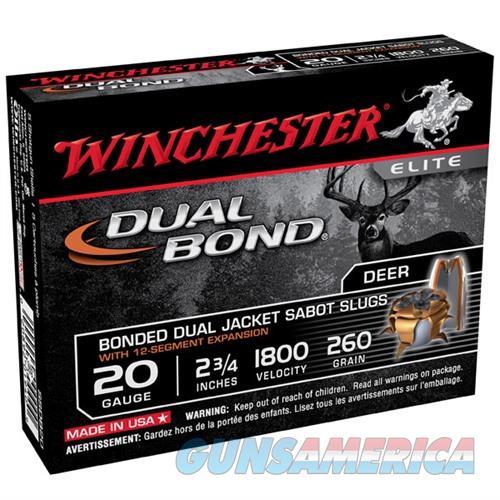 WINCHESTER DUAL BOND 20GAUGE 2.75: 260GR SABOT SLUG 5/BX  Non-Guns > Ammunition