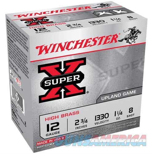 Winchester Super-X High Brass 12ga 2.75'' 1-1/4oz #8 25/bx  Non-Guns > Ammunition