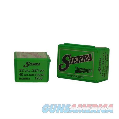 Sierra Bullet .22 .224 40gr Hornet  Non-Guns > Reloading > Components > Bullets