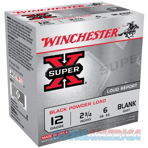Winchester Super-X Black Powder Blank 12ga 2.75'' 25/bx  Non-Guns > AirSoft > Ammo