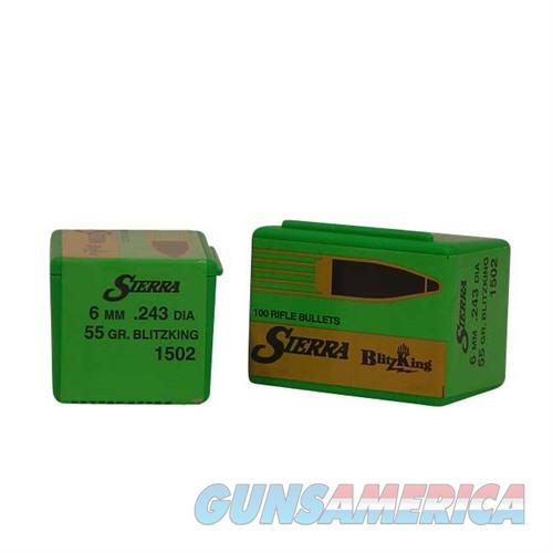 Sierra Bullet 6MM .243 55gr Blitz King  Non-Guns > Reloading > Components > Bullets