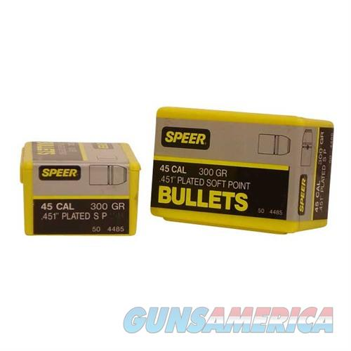 Speer Bullet .45 .451 300GR SP 50 BOX  Non-Guns > Reloading > Components > Bullets
